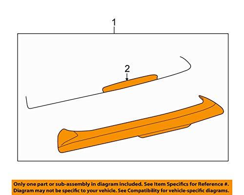 Original Volkswagen Dachkantenspoiler VW Golf 6 GTI Dachspoiler Heckspoiler Aerodynamik grundiert 5K6827936A GRU