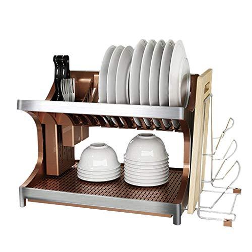 ZHENAO Soporte de Cubiertos Abs Multifunción Rack de Alenamiento de 2 Capillas Chillings Cuchillo de Cuchillo de Cuchilla de Cocina de Cocina de Cocina con Tay de Trayes de Drenaje
