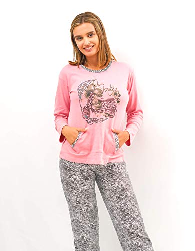 Babelo Homewear – Pijama de Mujer – Pijama de Mujer 100% algodón - Conjunto de Pijama de Mujer Print Animal – Estampado de Print Animal – Moda Homewear (M)