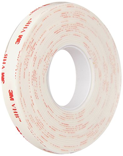 3M - 1/2-5-4950 VHB 4950 Heavy Duty Mounting Tape - 0.5 in. x 15 ft. Permanent Bonding Tape Roll with Acrylic Foam Core. Tapes and Adhesives
