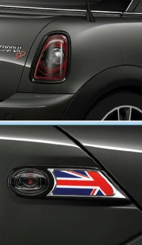 Original MINI R56 R57 R58 R59 Facelift Nachrüstsatz Heckleuchten + Seitenblinker Black Line m. JCW