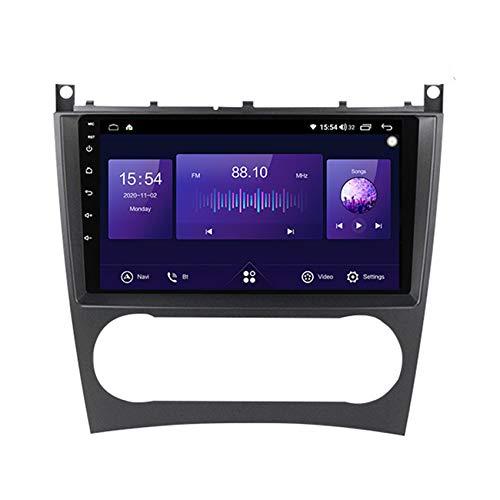 ADMLZQQ 2 DIN Android Radio del Coche Navegación GPS para Benz W203 HD Pantalla Táctil WiFi Internet Multimedia DSP RDS Bluetooth Manos Libres Cámara de Marcha atrás(Gift),7862,4+64G