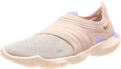 Nike Women's WMNS Free Rn Flyknit 3.0 Trail Running Shoes, Multicolour (Light Cream/Celestial Gold-Purple Agate 201), 3 UK