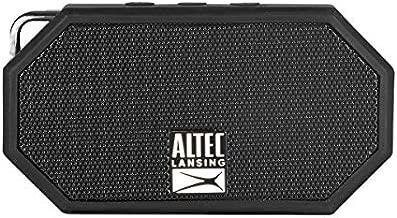 Altec Lansing IMW257-BLK Mini H2O Wireless Bluetooth Waterproof Speaker, Floating IP67 Waterproof, Boat, Hiking, Golf Cart, Atv, Utv, Lightweight, 6-Hour Battery Life, Black, 2.00 x 4.50 x 5.00 inches