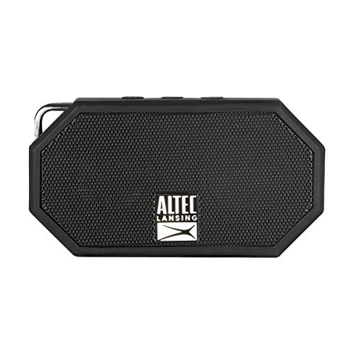 Altec Lansing IMW257-BLK Mini H2O Waterproof, Sandproof, Snowproof and Shockproof Bluetooth Speaker, Black