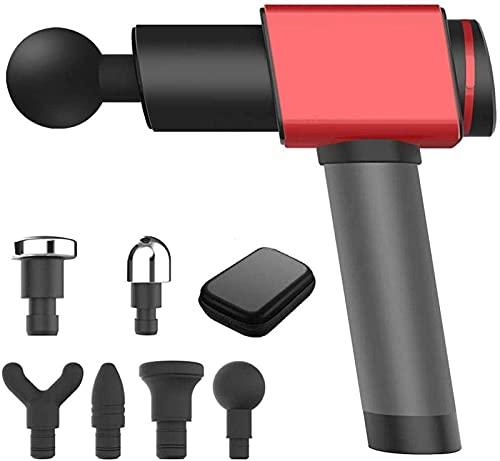 xzl Pistola de masaje para atletas masajeador muscular corporal, portátil, para eliminar adherencias fasciales y reducir lesiones deportivas después de fitness o deportes, rojo