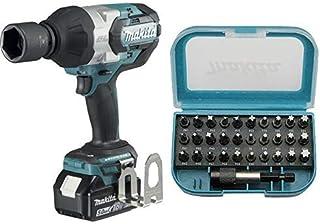 Makita DTW1001RTJ Brushless - Llave de impacto + Makita P-73374 - Puntas de destornillador (31 piezas)