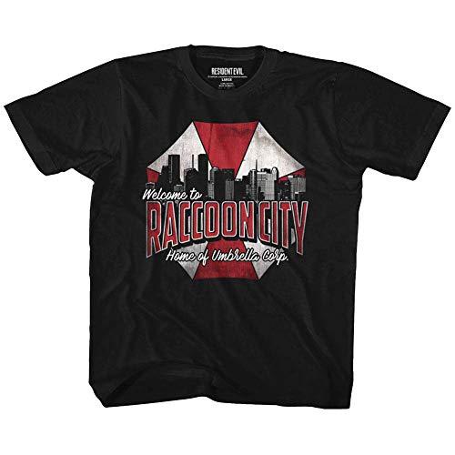 Camiseta para niño Resident Evil Horror Syfy Sci-Fi Film Video Game Raccoon City - Negro - 3 años