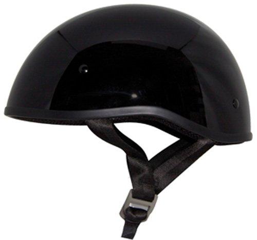 ZOX Retro Old School Open Face Helmet (Glossy Black, Medium)