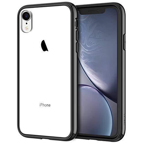 JETech Funda Compatible iPhone XR 6,1', Carcasa Absorción de Impacto, Negro