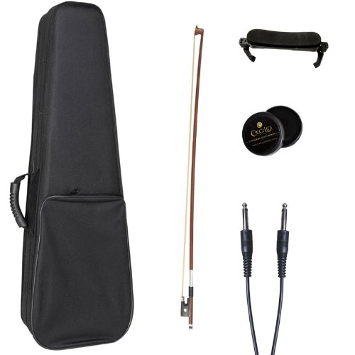 Cecilio 4/4 CVNAE-330+SR Ebony Fitted Acoustic/Electric Violin in...