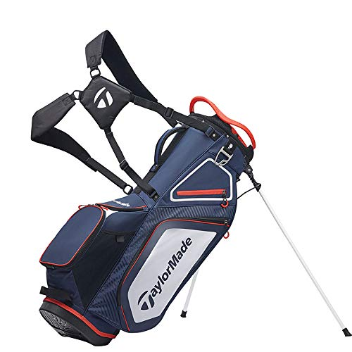 TaylorMade Stand 8.0 Bag, Navy/White/Red, Large