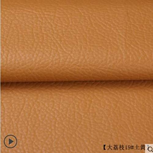 135x50cm PU lederen zelfklevende fix Subsidies Simulatie huid terug sinds de kleverige rubberen patch lederen bank stoffen bruin