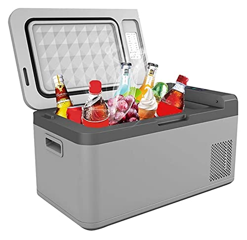 SHUHANG Refrigerador de coche portátil compresor refrigerador con congelación de almacenamiento en frío, control preciso de temperatura (color: gris, tamaño: 58,5 x 32,5 x 31 cm)