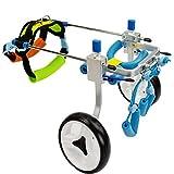 XFPINK Perro Remolques de Bicicleta Chaleco para Perros Arnés Deportes y Aire Libre Perro Silla de Ruedas 2 Ruedas Patas traseras Perro discapacitado Gatos Adultos Perros pequeños Patas traseras