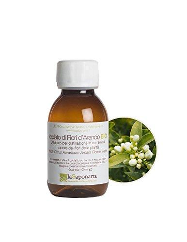LA SAPONARIA - Hidrosol de Azahar Orgánico - Tonificante, refrescante y calmante - Para pieles secas - Propiedades calmantes y relajantes - Sin alcohol - Vegano - 100 ml