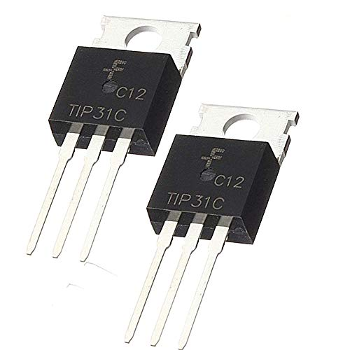 TIP31C NPN Transistor 3A 100V TO-220 Silicon Power TIP31C NPN Transistor Assortment Kit,2 Pack