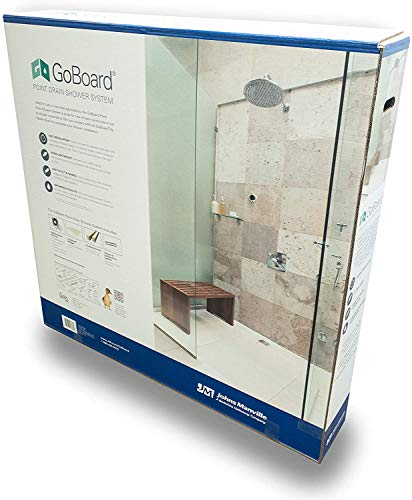 GO BOARD FULL SHOWER KIT WITH POINT DRAIN SHOWER SYSTEM & BOARDS