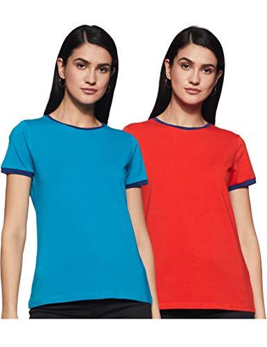 Amazon Brand - Inkast Denim Co. Women's Regular Fit T-Shirt (INK/CTEE-03_Multi 1 S)