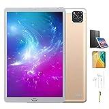 Tablette Tactile 10 Pouces 4G, 64Go de Mémoire et 4Go de RAM 8-cœurs Dual SIM/ WiFi,GPS,Bluetooth,OTG,Netflix VOUKOU(Or)