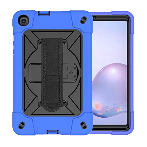 JIANWU Cover, For Samsung Galaxy Tab A8.4 (2020) T307 Contrast Color Robot Shockproof Silicon + PC Protective Case with Holder & Pen Slot (Color : Dark Blue)