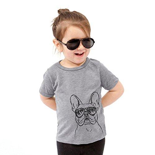 Franco The French Bulldog Toddler Unisex Boy Girl Kids Crewneck 2T Grey