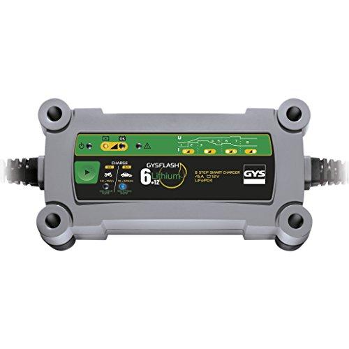 Gys GYS-029729-GYSFLASH GYSFLASH 6.12-Chargeur/Maintien DE CHARGE-12V-LIVRE avec Pinces ET COSSES DE Connexion, Lithium 6A