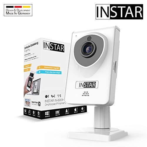 INSTAR IN-6001HD weiss - WLAN Überwachungskamera - IP Kamera - Innenkamera – Mikrofon – Lautsprecher - Bewegungserkennung - Nachtsicht - Weitwinkel - LAN - RTSP - ONVIF