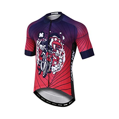 Thebe, imbottitura in gel 3D da uomo, a maniche corte, per mountain bike, ad asciugatura rapida/traspirante/traspirante (XS-4XL) Colore S