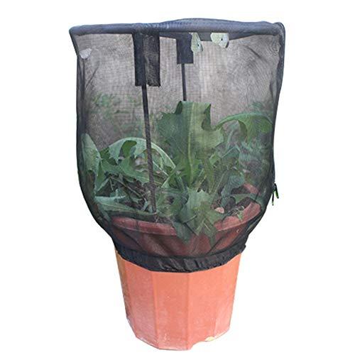 MINGMIN-DZ Dauerhaft Tragbare Blumentopf Schmetterling Habitat Käfig Insektenfraß Net Garten Raising Abdeckung Zierpflanze Sonnenschutz