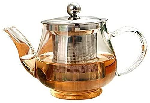 Nueva tetera hecha a mano con filtro de vidrio resistente al calor Infusor de té de acero inoxidable Hervidor de agua al por mayor ollas de té DrinkwarePequeños aparatos de cocina