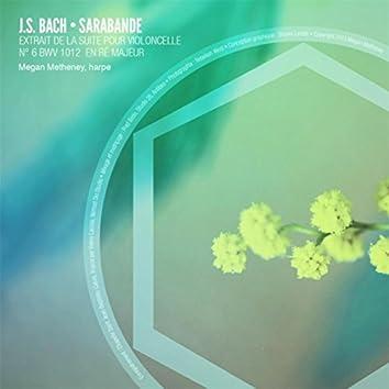 Suite pour violoncelle No. 6 en ré majeur, BWV 1012: IV. Sarabande