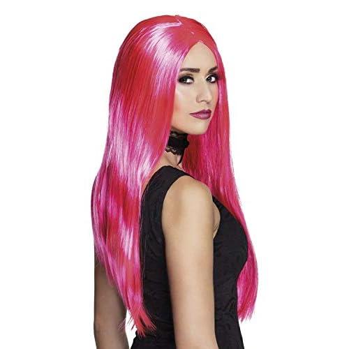 Boland 85998 - Parrucca da Strega, Colore: Rosa Fluo