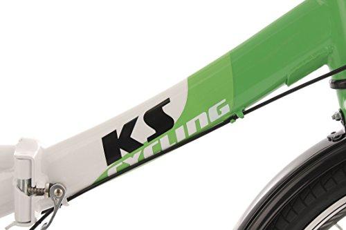 KS Cycling Fahrrad Klapprad Fx300 3-Gänge, Grün/Weiss, 20 Zoll, 580B - 4