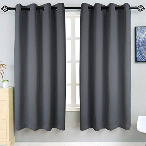 TEKAMON Blackout Curtains 2 Panels Top Eyelet Solid Thermal Insulated Curtains...