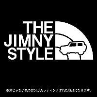 ジムニー 4代目JB64/JB74系ステッカー THE JIMNY STYLE【カッティングシート】パロディ(12色から選べます) (白)