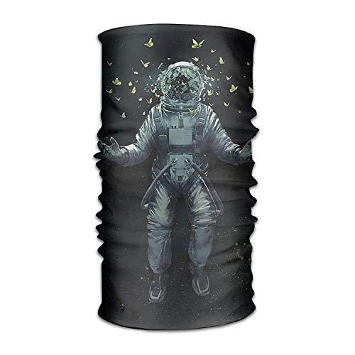 Nifdhkw Headwear Multifunctional Sweatband Space Astronaut Butterfly Face Mask Scarf Bandana Head Wrap Liner Fashion10