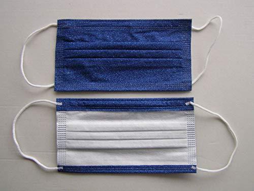 10 x Mundschutz Masken B - WARE Einweg Mund Nase Gesicht 3 lagig Community Hygiene Behelfsmaske (10) (17,5 x 9,5 cm, dunkelblau, 10)