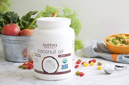 Nutiva Organic, Unrefined, Virgin Coconut Oil, 54 Fl Oz (Pack of 1)