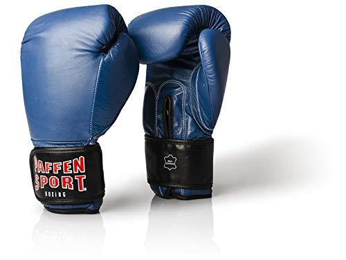 Paffen Sport KIBO Fight Echtleder-Box- und Kampfsporthandschuhe für das Sparring; blau; 14UZ