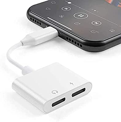 [Apple MFi Certified] iPhone Adapter & Splitter, 2 in 1 Dual Lightning Headphone Jack Audio + Charge Cable Compatible for iPhone 11/11 Pro/XS/XR/X 8 7, iPad, Support iOS 13 + Sync Data + Music Control from Kvk