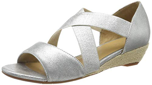Hotter Rita, Damen Offene Sandalen mit Keilabsatz, Silber (Soft Silver 128), 43 EU
