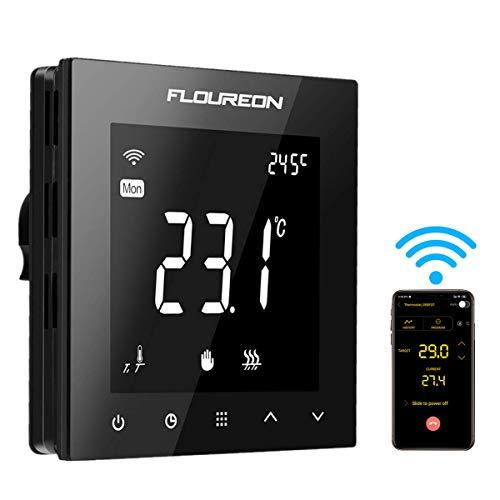 Wifi Thermostat Heizung Raumthermostat digitaler Wandthermostat programmierbar Raumtemperaturregler für Fussbodenheizung elektrische Heizung Wandheizung mit großer LCD-Bildschirm 230V 16A