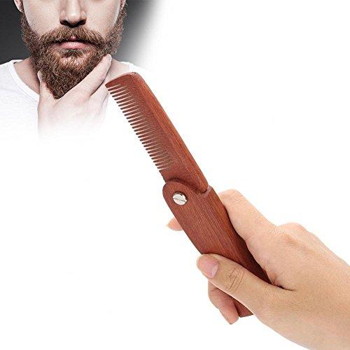 Peine de bigudí de bolsillo plegable portátil
