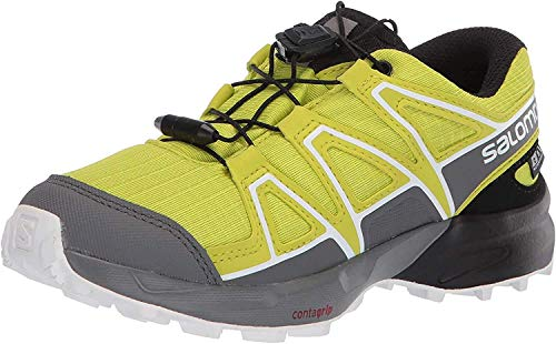 Salomon Kinder Trail Running Schuhe, SPEEDCROSS CSWP J, Farbe: grün (Evening Primrose/Quiet Shade/Black), Größe: EU 39