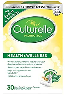 Culturelle Health & Wellness Daily Probiotic Dietary Supplement | Restores Natural Balance of Good Bacteria in Digestive Tract* | With the Proven Effective Probiotic† | 30 Vegetarian Capsules (B001BKH3L2) | Amazon price tracker / tracking, Amazon price history charts, Amazon price watches, Amazon price drop alerts