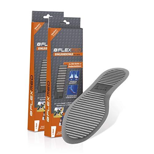 FLEXMED Einlegesohle für mehr Stabilität | Damen und Herren Schuheinlagen für bessere Gewichtsverteilung, Optimierte Kraftübertragung | Für Sport, Büro oder Freizeit (39, 2er-Set)