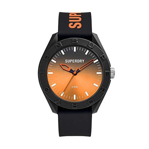 Superdry Reloj Analógico para Hombre de Cuarzo con Correa en Silicona SYG321BO