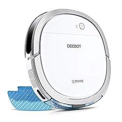 【5.7cm超薄型】DEEBOT OZMO Slim11 エコバックス ロボット掃除機 水拭き 薄型 フローリング/畳掃除 除菌率99.26% スマホ連動 Alexa対応 ホワイト ECOVACS直営店限定2年保証の商品画像