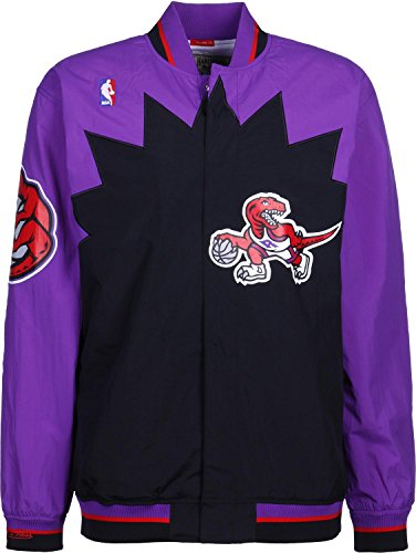 Mitchell & Ness Toronto Raptors NBA Authentic Warm Up Jacket Purple Jacke Anorak Windbreaker